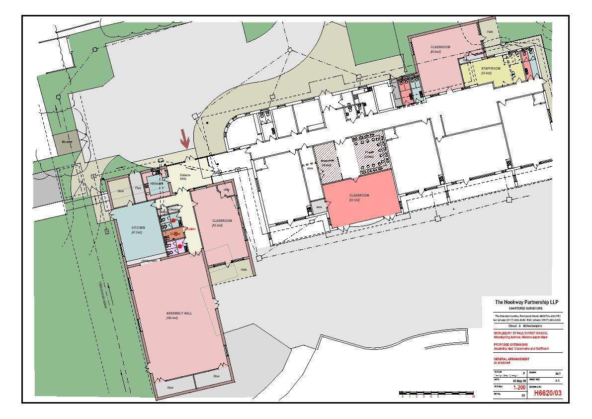 Primary School Plan Elevation : North somerset demo template